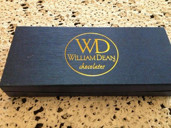 William Dean Chocolates:                   Ten chocolate Box