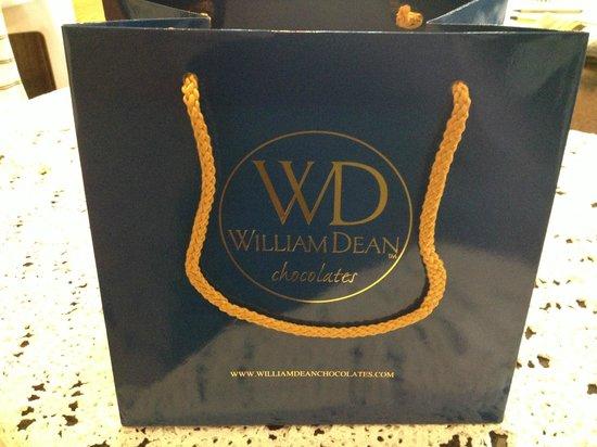 William Dean Chocolates:                   Beautiful Gift Bags