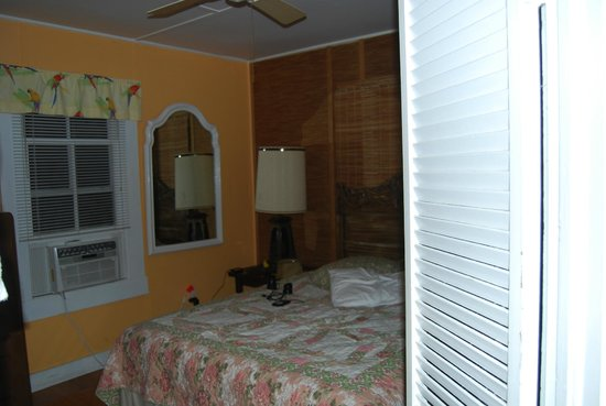 Authors Key West Guesthouse:                   The bedroom of the Tennessee Williams cottage. View from Living room.