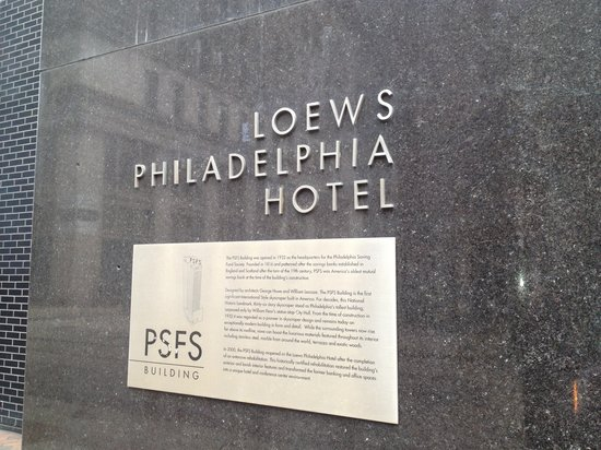 Loews Philadelphia Hotel: Old PSFS building - I like what they've done with the place