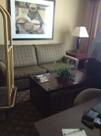 Homewood Suites by Hilton Henderson / South Las Vegas:                   Living area, with couch, chair, and coffee table.