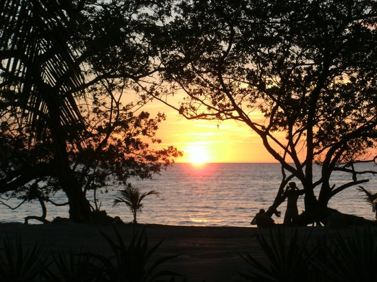 Flamingo Beach Resort And Spa:                                                       sunset from resort