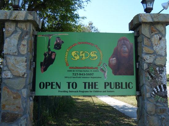 Suncoast Primate Sanctuary Foundation, Inc.:                   sign