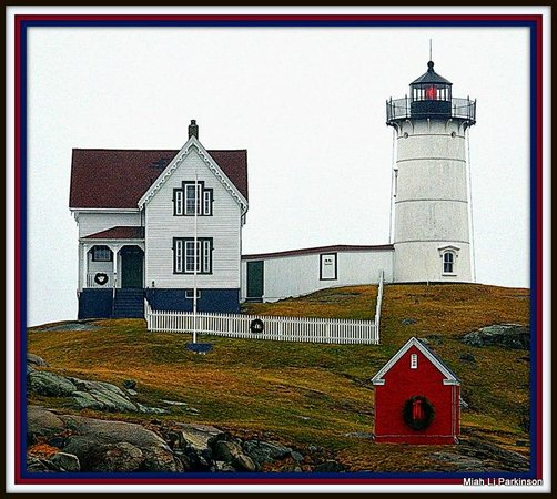 Cape Neddick Nubble Lighthouse : Nubble in Decamber