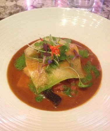 gaZette Restaurant and Lounge in Le Westin Montreal : lobster ravioli