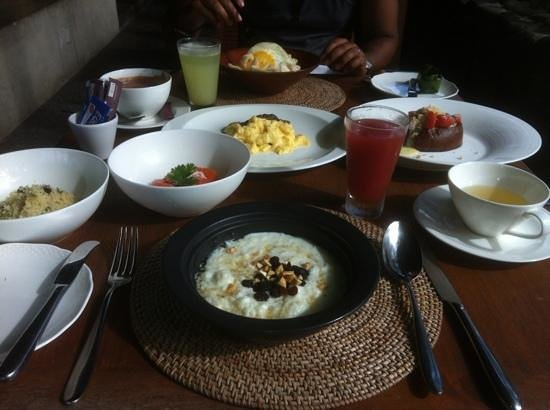 Alila Ubud:                                     amazing breakfasts
