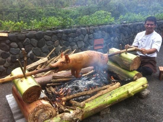 Alila Ubud:                                     suckling pig