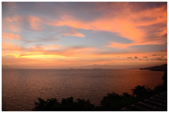 Bellarocca Island Resort and Spa:                                     sunset view at helipad
