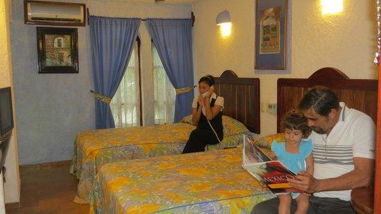 Eco-Hotel El Rey Del Caribe: Habitación 2 camas dobles