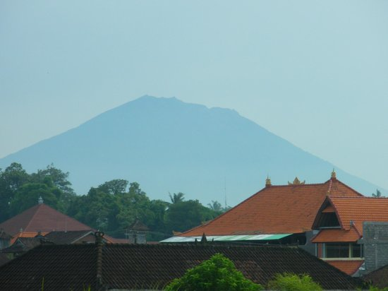 """Narasoma Homestay:                   View of Mt Agung from """"Cempaka"""" by Annie"""