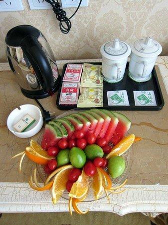 Yi Jade Hotel :                   Fruit platter on arrival