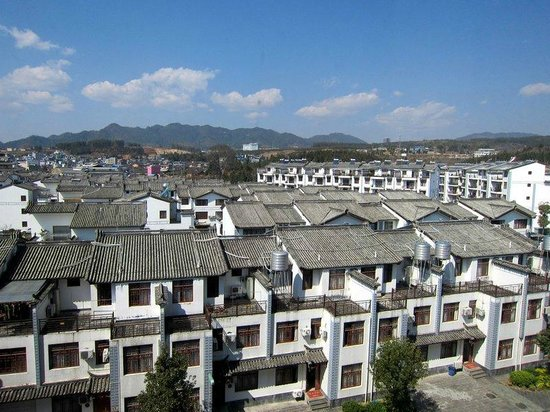 Yi Jade Hotel :                   Mountains to the west