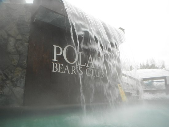 Polar Bear's Club: une des chute du spa