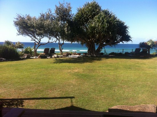 Bluewater on the Beach:                                     The view from the Tamarama deck.
