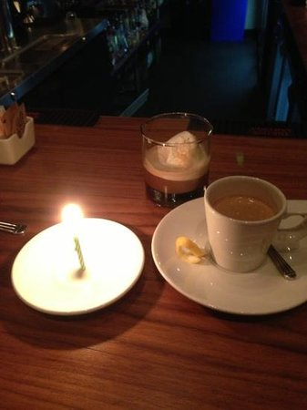 Molinari's :                   yummy gelato w/ espresso for dessert