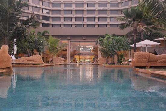 JW Marriott Mumbai Juhu:                   view from the pool