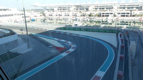 Yas Viceroy Abu Dhabi:                   View of the track from the hotel