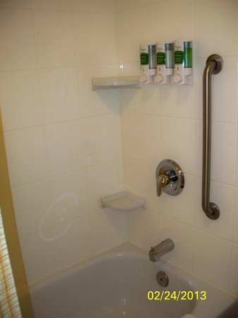 TownePlace Suites by Marriott Baltimore BWI Airport: Loved the pre-installed shampoo, conditioner, and shower gel holders in the shower