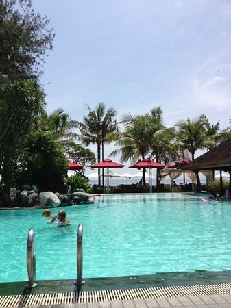 Griya Santrian:                   view from beach pool
