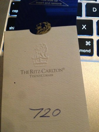 The Ritz-Carlton, Tysons Corner: room key