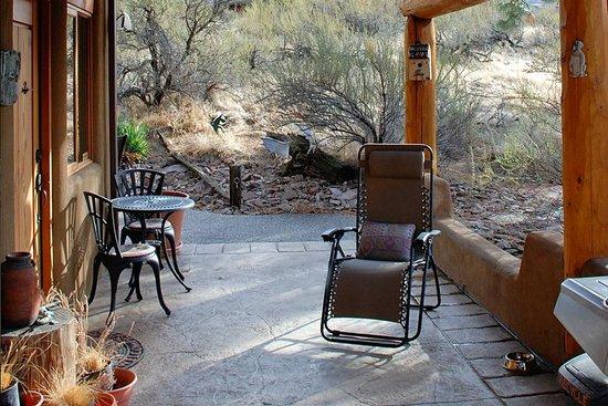 Bighorn Ridge Guest House front door, veranda