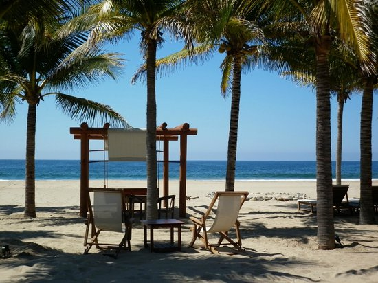 Las Palmas Resort & Beach Club: Blissful bed...beachfront, Las Palmas