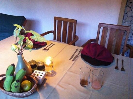 Nefatari Exclusive Villas:                   キャンドルライトディナー