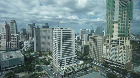 Ascott Makati:                   View of city from suite