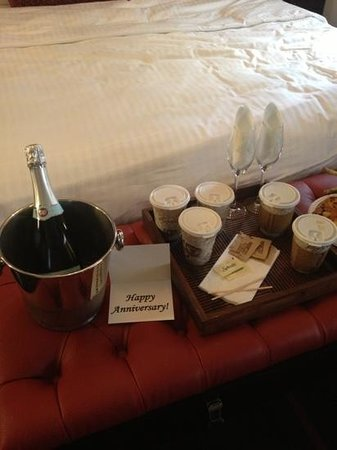 Sanctuary Hotel New York:                   morning of our anniversay free of charge!!!