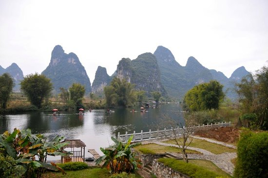 Yangshuo Mountain Retreat:                   View from our balcony