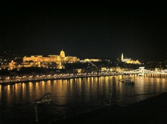 Budapest Marriott Hotel:                   the view from the Exec Club on 9
