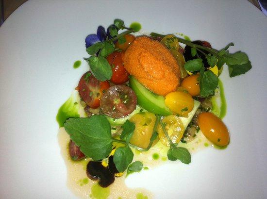 Bizerca Bistro:                   most amazing tomato salad and frozen gazpacho