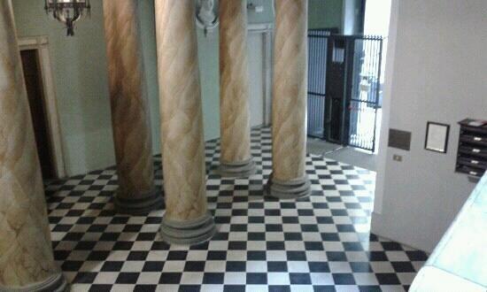 Palazzo Galletti: l'androne di accesso alla struttura