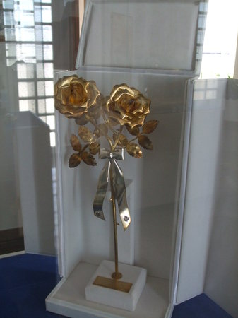 Shrine of Our Lady of Europa :                                     A golden rose from the pope