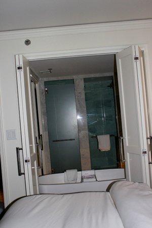 The St. Regis Aspen Resort:                   Bedroom to bathroom