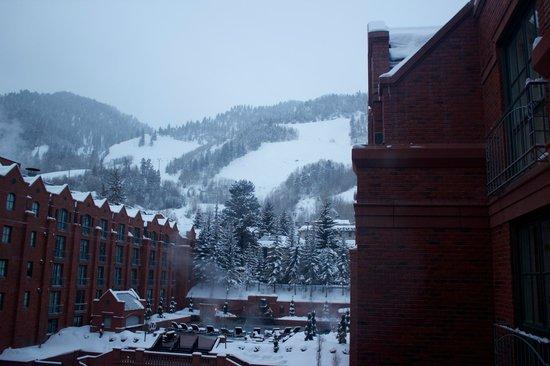 The St. Regis Aspen Resort:                   View of Aspen Mountain from room