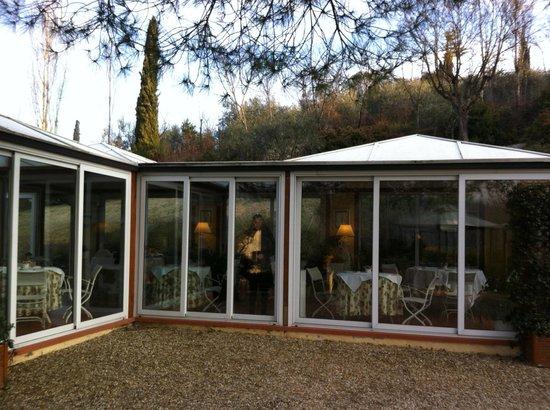 Marignolle Relais & Charme:                   la veranda per le colazioni e la cena