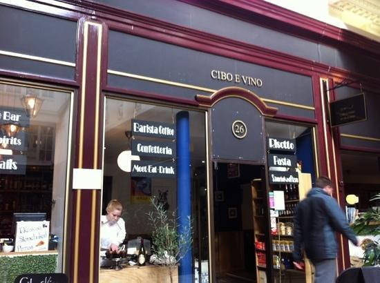Cibo e Vino:                   great coffee