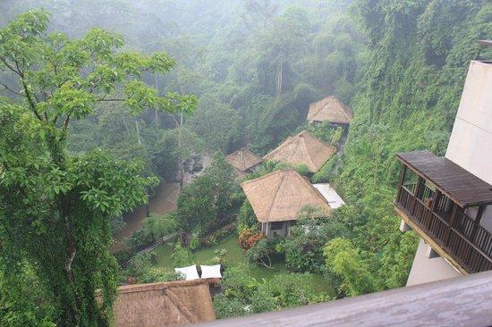 Maya Ubud Resort & Spa: View down to Spa