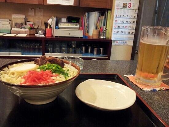 Restaurant Marumiya :                   soki soba and orion