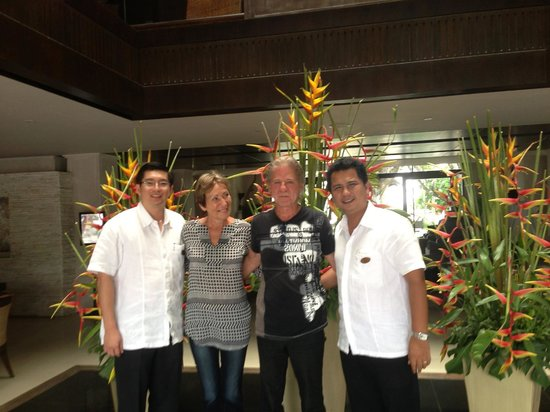 Impiana Resort Patong Phuket: The two managers and us