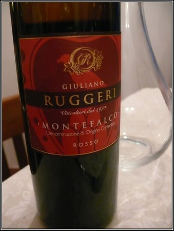 Hotel Pallotta Assisi:                   montefalco rosso from Ruggeri
