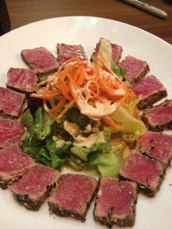 Kokoro Steaks Sushi & Martini Bar :                   Ahi tuna