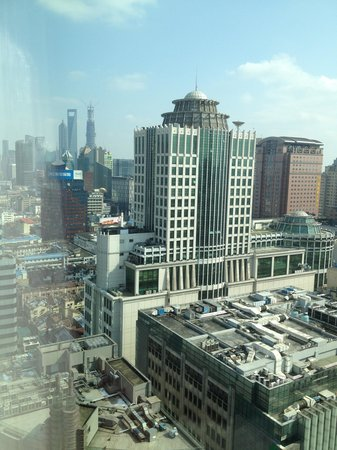 Shanghai Marriott Hotel City Centre:                                     Hotel room view