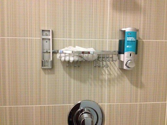 aloft Richmond West:                                                       Missing shampoo dispenser