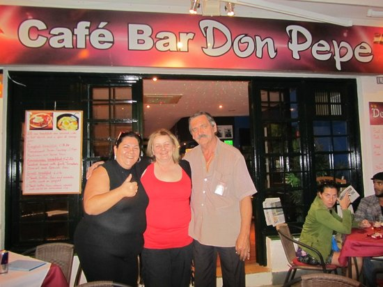 Cafe Bar Don Pepe:                   The Lovely Barbra and Pepe