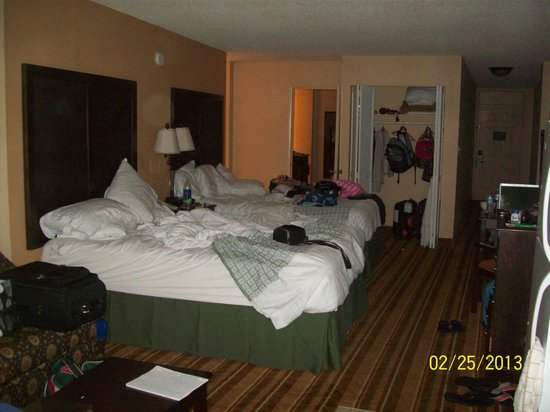 Lexington Inn & Suites: Sorry it's so messy...
