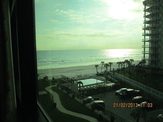 Oceanside Inn:                                     view from room