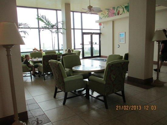Oceanside Inn:                                     Lobby in front of the ocean