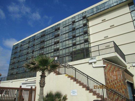 Oceanside Inn:                                     outside from the beach